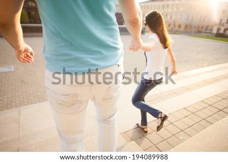 love running back - stock photo