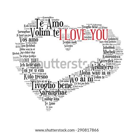Love shape words i love you stock illustration 290817866 shutterstock love shape words i love you in different languages of the world on white altavistaventures Choice Image