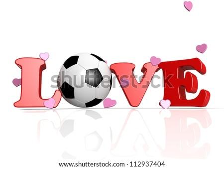 Love Soccer - stock photo
