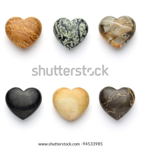 love stones .heart - stock photo