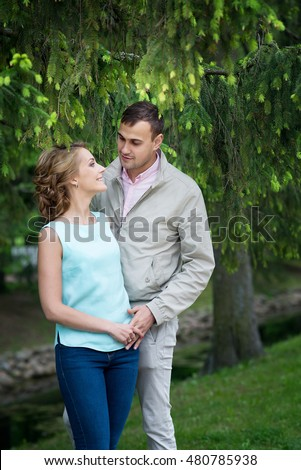 Love story, young couple. Romance relationship