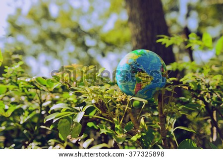 Love the Earth, from the beginning of our own - stock photo