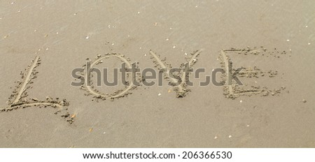 love the inscription on the sand
