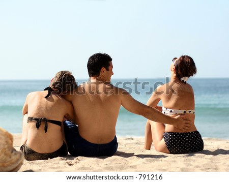 Love triangle - stock photo