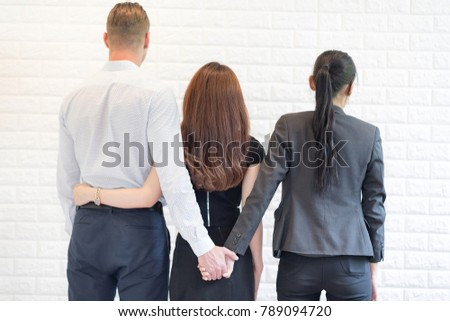 Love Triangle Holding Hands