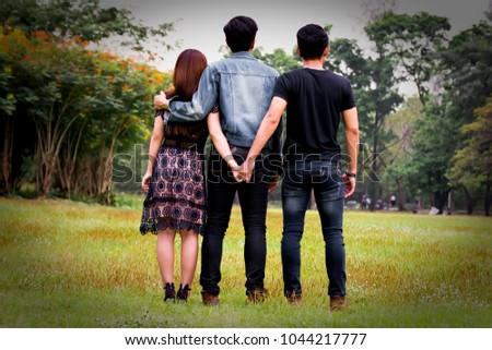 Threesome with two men and a woman