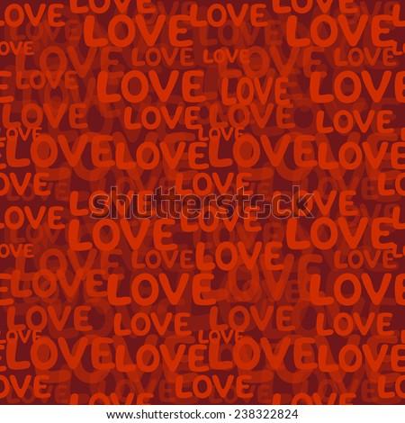 Love word seamless pattern - stock photo