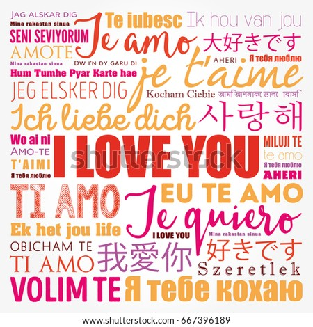 Love Words I Love You In All Languages Of The World Word Cloud