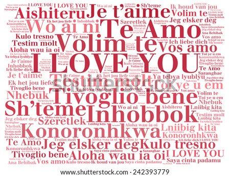 Love words i love you different stock illustration 242393779 love words i love you in different languages of the world words cloud thecheapjerseys