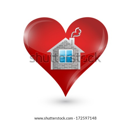 love your home illustration design over a white background - stock photo
