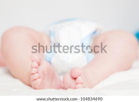 lovely  baby feet - stock photo