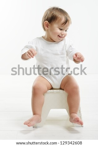 Baby sitting stock images royalty free images vectors for Toddler sitting chair