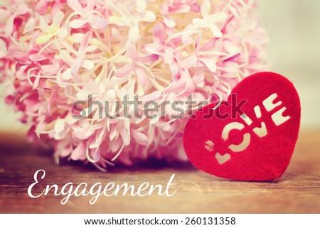 lovely background - engagement - stock photo