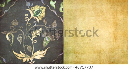 lovely background image with floral design - stock photo