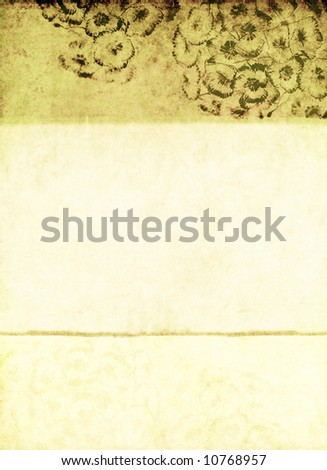 lovely background image with interesting earthy texture, floral elements and plenty of space for text