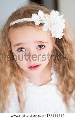 Lovely beautiful blond girl - stock photo