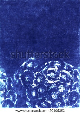 lovely blue background image with floral elements
