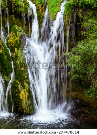 Lovely cascade, with intense colors and clear water
