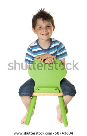 Lovely child sitting and smiling