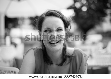 Lovely confused woman - stock photo
