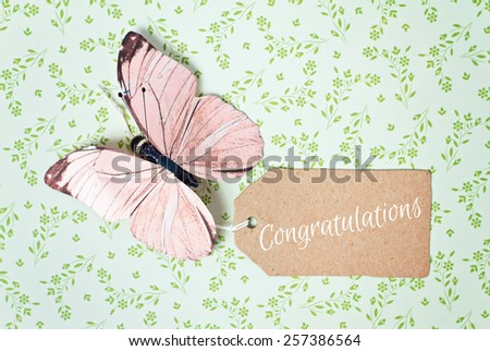 lovely greeting card - congratulations - stock photo