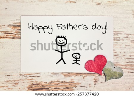 lovely greeting card - happy fathers day - stock photo
