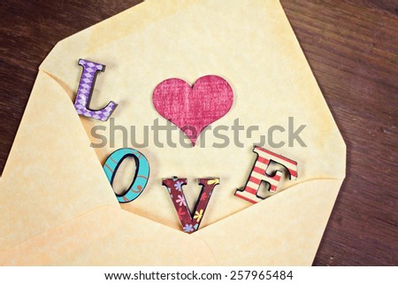 lovely greeting card - LOVE - stock photo
