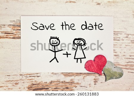 lovely greeting card - save the date