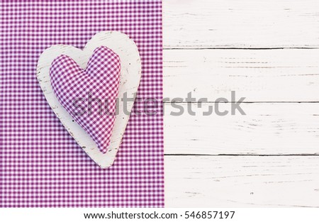 Lovely heart greeting card background.