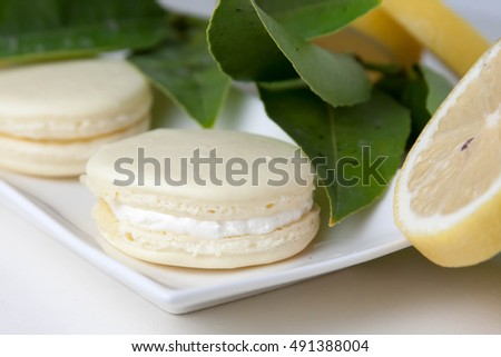 Lovely lemon french macarons