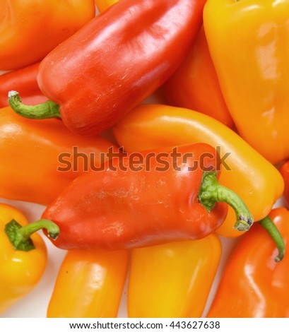 lovely mini peppers on background  - stock photo
