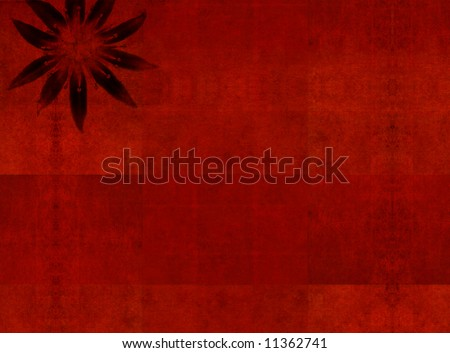 lovely red background image with floral elements