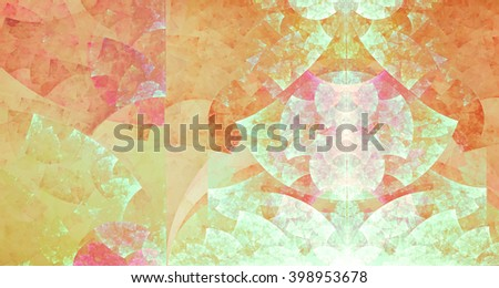 Lovely spring or summer composition. Pastel shades. Geometric pattern gives concise and personality composition. Texture is poured, it gives a feeling of surprise, puzzle and uniqueness. - stock photo