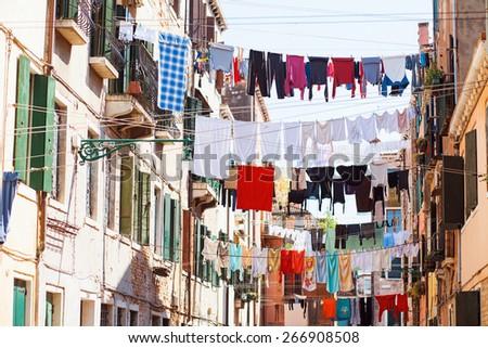 Lovely street, Venice, Italy - stock photo