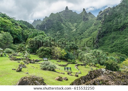 Lovely Upper Garden:view From The Upper Garden Surrounded By Mountains, At  The Limahuli