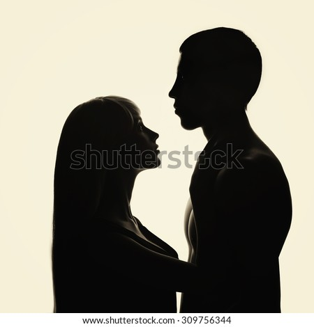 lovely young couple.man and woman. - stock photo