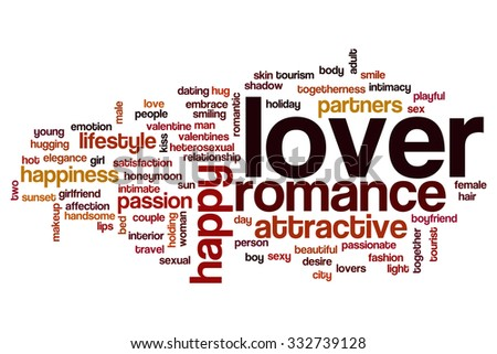Lover word cloud - stock photo