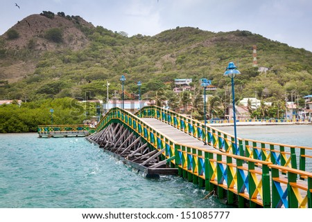 Lovers bridge connecting Santa Catalina and Providencia, Colombia