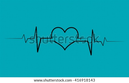 Lovers heart cardiogram
