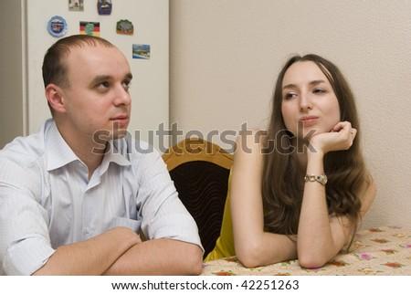 Lovers Quarrel - stock photo