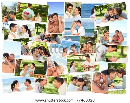 Lovers spending qulity time together outdoors - stock photo