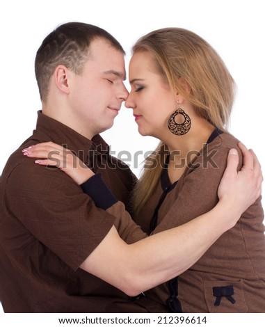 Loving couple embracing - stock photo