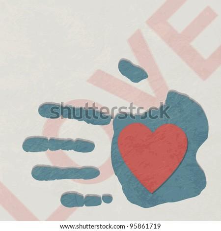 Loving hand - stock photo