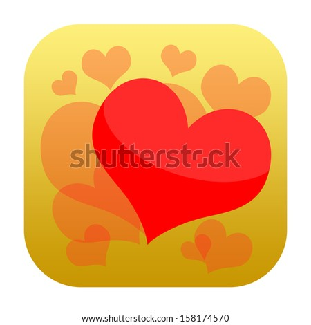 Loving heart icon