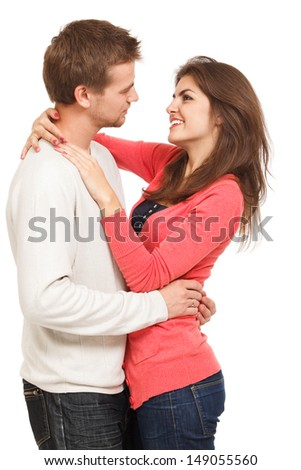 loving relationship between a man and a woman - stock photo