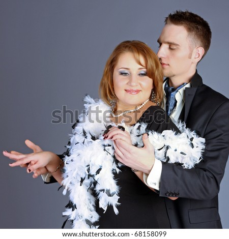 Loving woman with boa