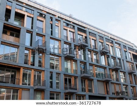Exterior design stock images royalty free images for Low balcony wall