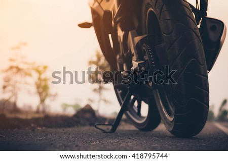 Low angle photograph of motorcycle