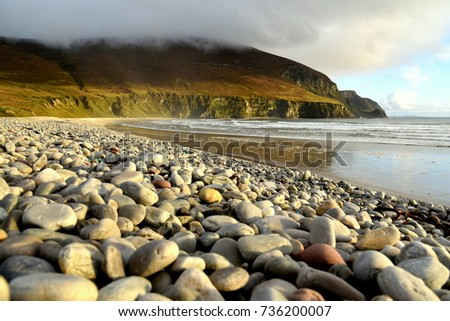 Pebble border stock images royalty free images vectors for Achill island beauty salon