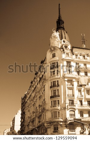 Low angle view of a building, Buenos Aires, Argentina - stock photo